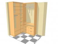 компании  гардеробы для спальней с нетипичной архитектурой